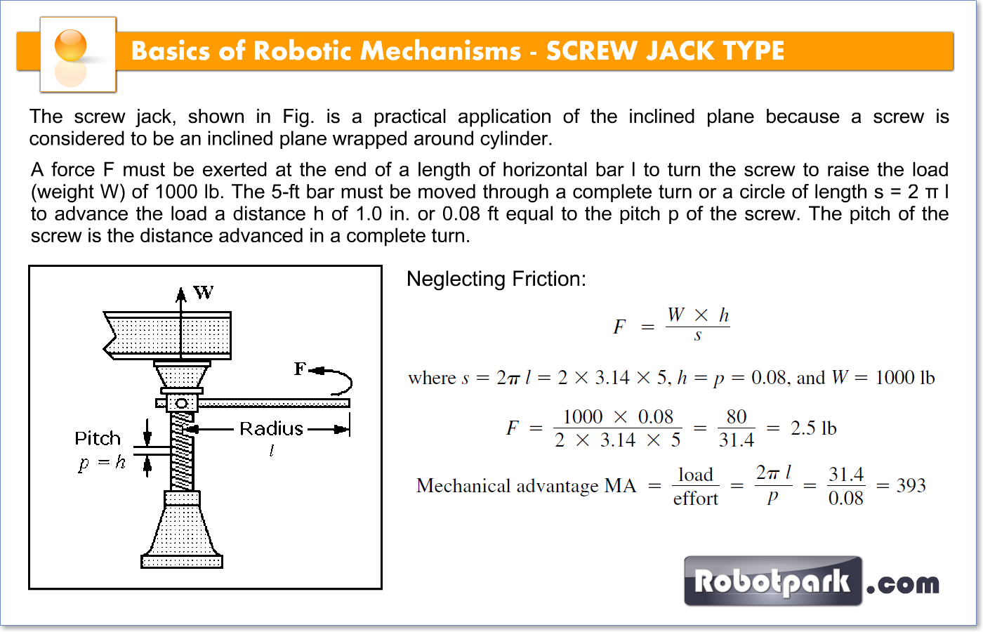 screw examples. The Pitch Of Screw Is Distance Advanced In A Complete Turn. Examples
