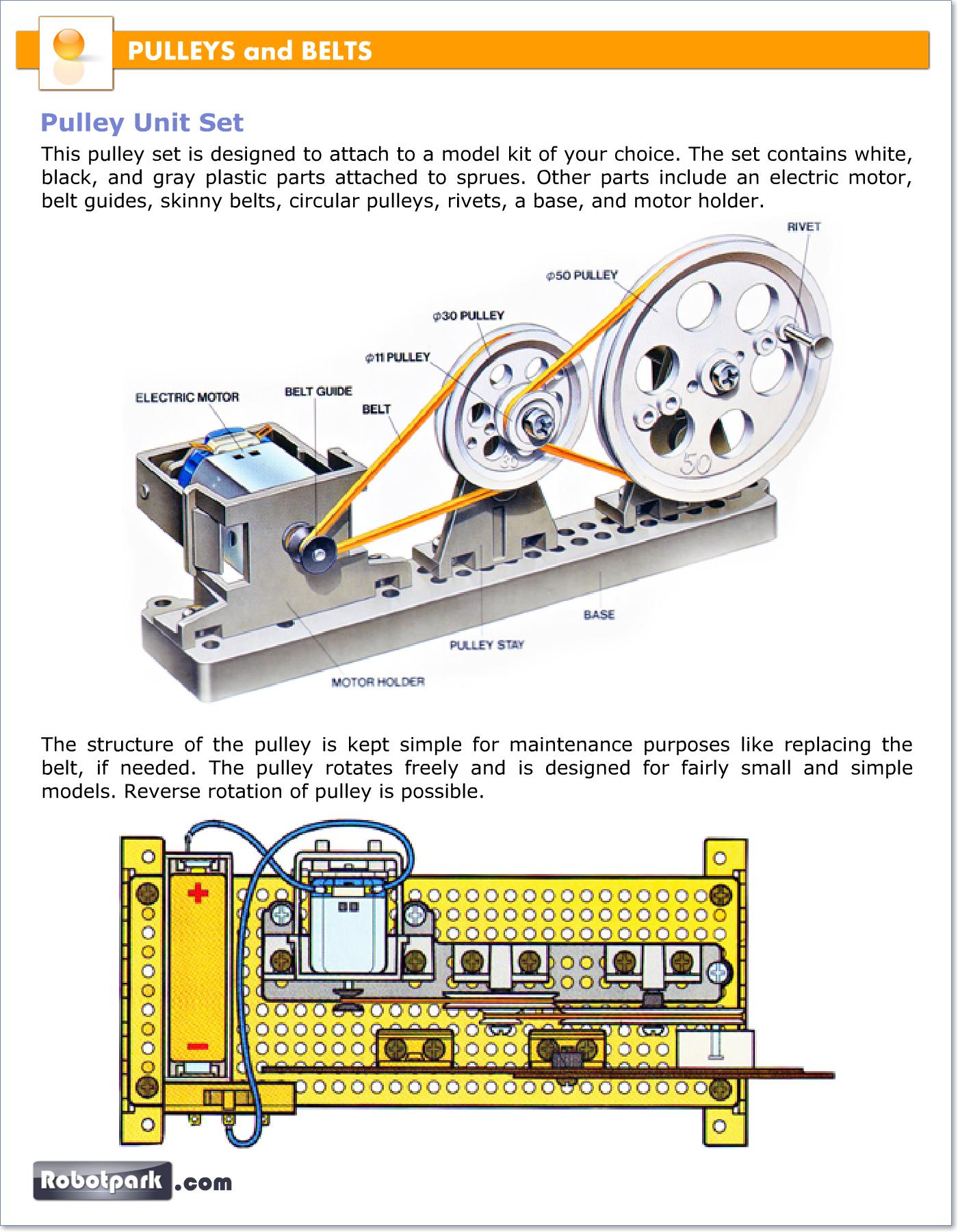 Robotic Mechanisms Pulleys And Belts 51045 Robotpark