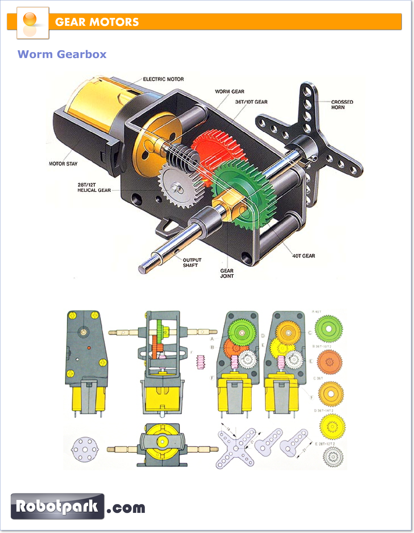 Motor gear box make everything you motorized for Diffee motor cars south