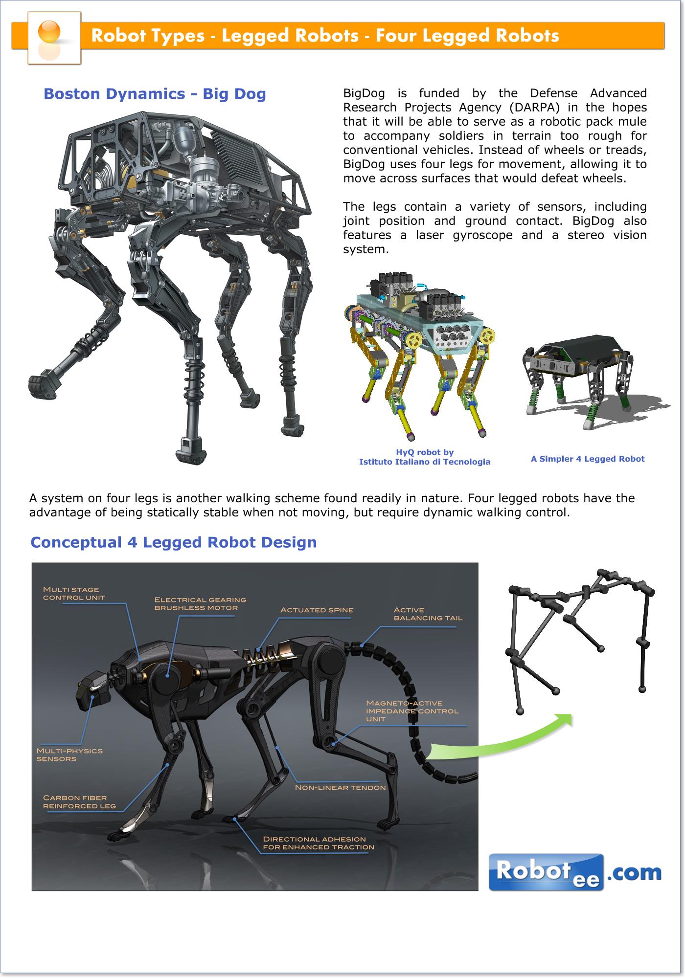 Four Legged Robots Robotpark Academy