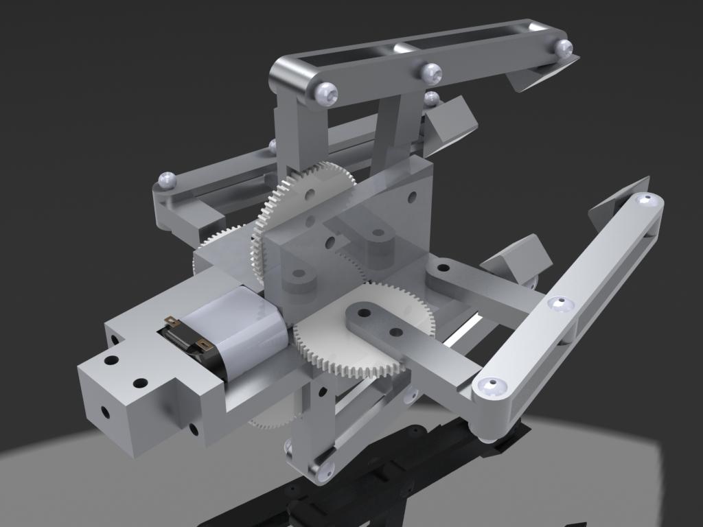 Robot Arm 4 Bar Linkage End Effector Robot Gripper