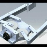 4 Bar Linkage End Effector, Robot Gripper Animation
