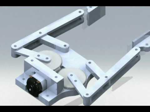 Robot Arm - 4 Bar Linkage End Effector, Robot Gripper - 11037