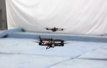 Fast Transitions of a Quadrocopter Fleet Using Convex Optimization