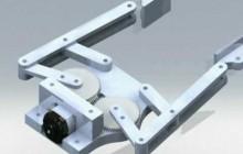 4 Bar Linkage End Effector, Robot Gripper Animation