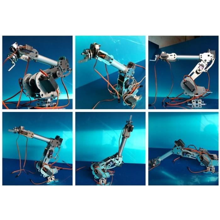 6-Axis Robot Arm 100% Aluminum Alloy with 7 Servos