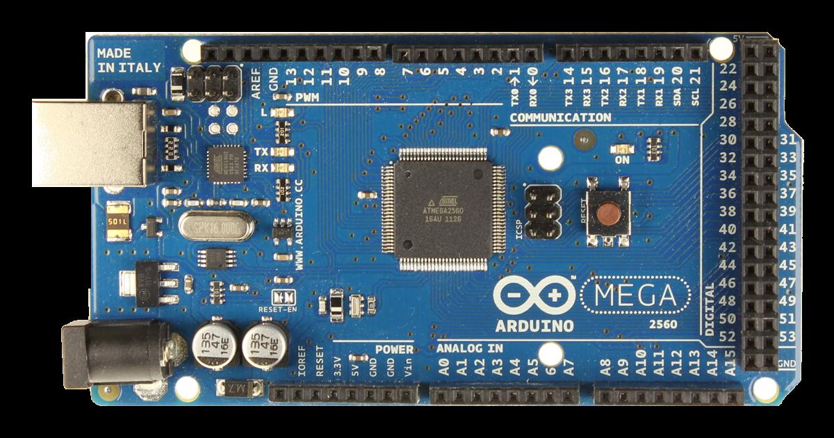 Arduino mega microcontroller rev