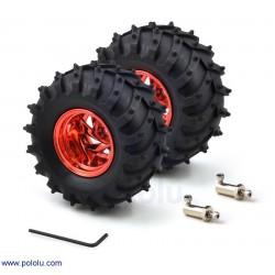 Dagu Wild Thumper Wheel 120x60mm 4mm Şaft Aparatlı (2'li) - Kırmızı