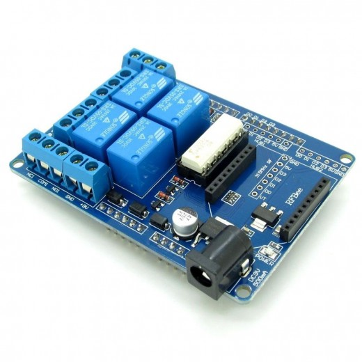 Channel relay and xbee shield for arduino