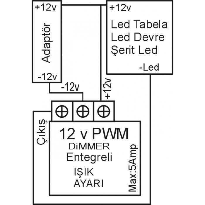 PWM 12V LED Dimmer and Dc Motor Speed Controller