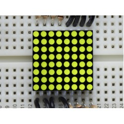 Miniature 8x8 Yellow-Green LED Matrix