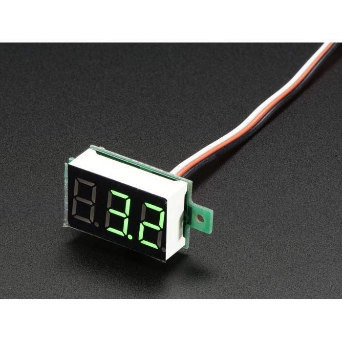 Mini 3 Wire Volt Meter 0 99 9vdc