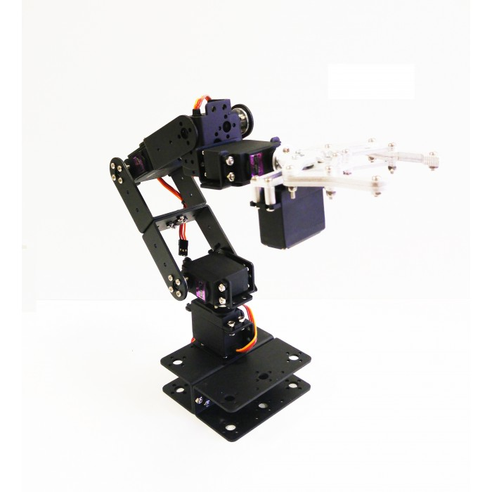 Robotpark 6 dof aluminum robot arm kit without servo motors Motor for robotic arm