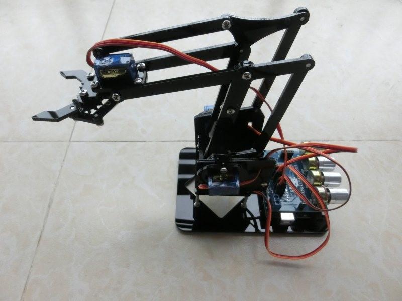 Dof acrylic robot arm claw arduino kit