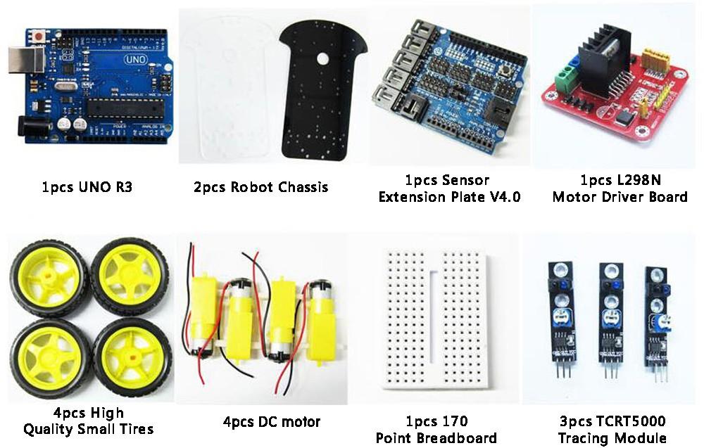 MinibreadboardForRobotCarAssemblyKitMulti-Functional4WDRobotCarChassisKitswithUNOR3170point-32672315394