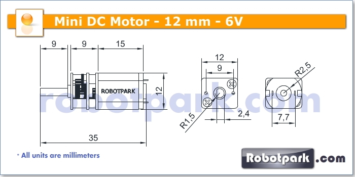 6v 1000rpm 12mm geared dc motor for Dc gear motor specifications