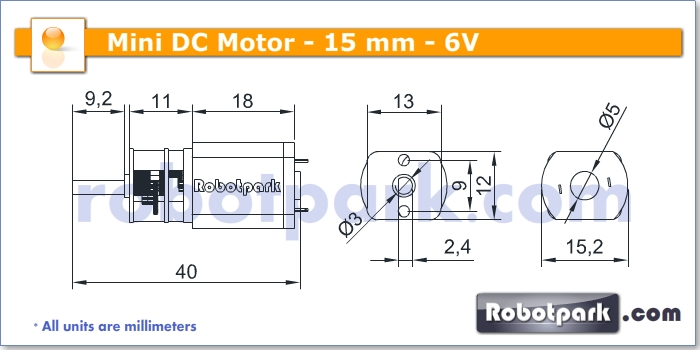 6v 350rpm 15mm geared dc motor for Dc gear motor specifications