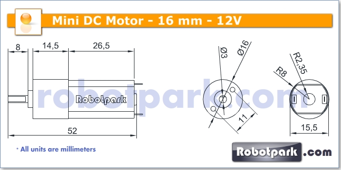 12v 120rpm 16mm geared dc motor for Dc gear motor specifications