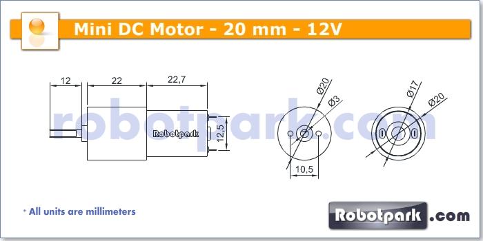 12v 5rpm 20mm Geared Dc Motor