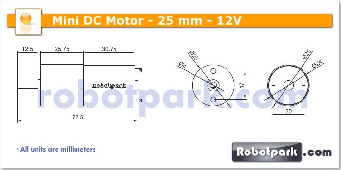 12v 7 5rpm 25mm Geared Dc Motor
