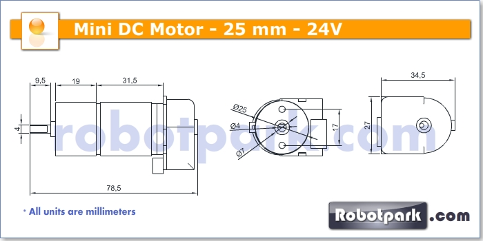 24v 500rpm 25mm geared dc motor with encoder for Dc gear motor specifications