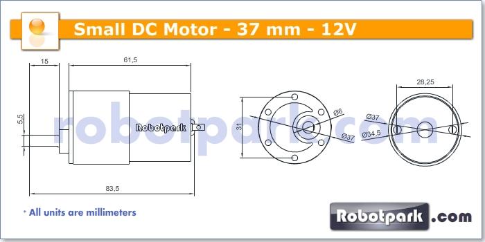 12v 10rpm 37mm Geared Dc Motor